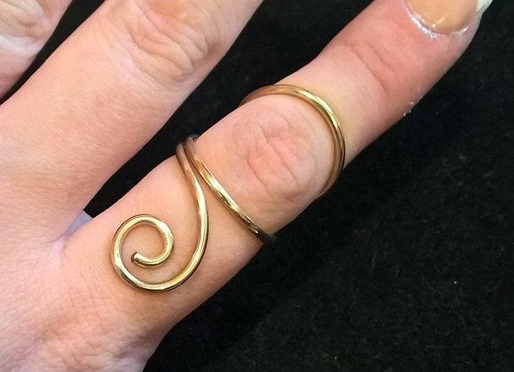 Swan Neck Swirl Ring Splint
