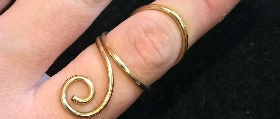 Swan Neck Swirl Ring Splint