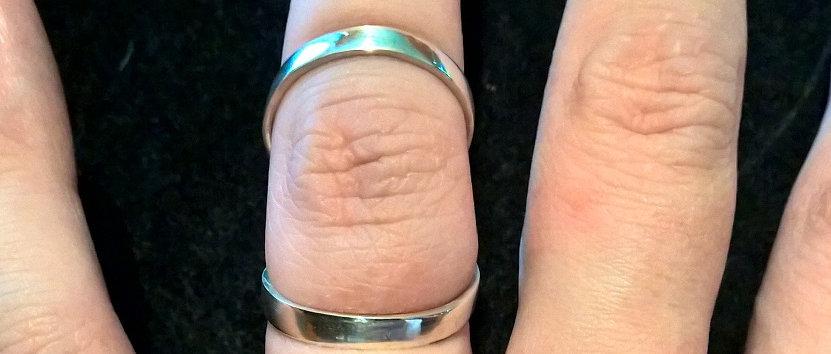 Wide Band Swan Neck Ring Splint