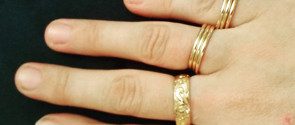 Buddy Ring in Yellow or Rose Gold Fill