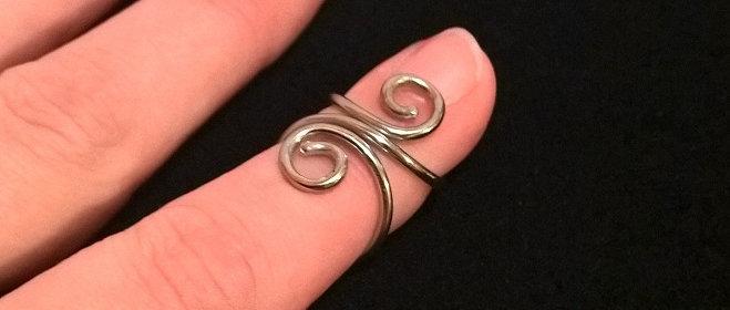 Mallet Finger Double Swirl Ring Splint