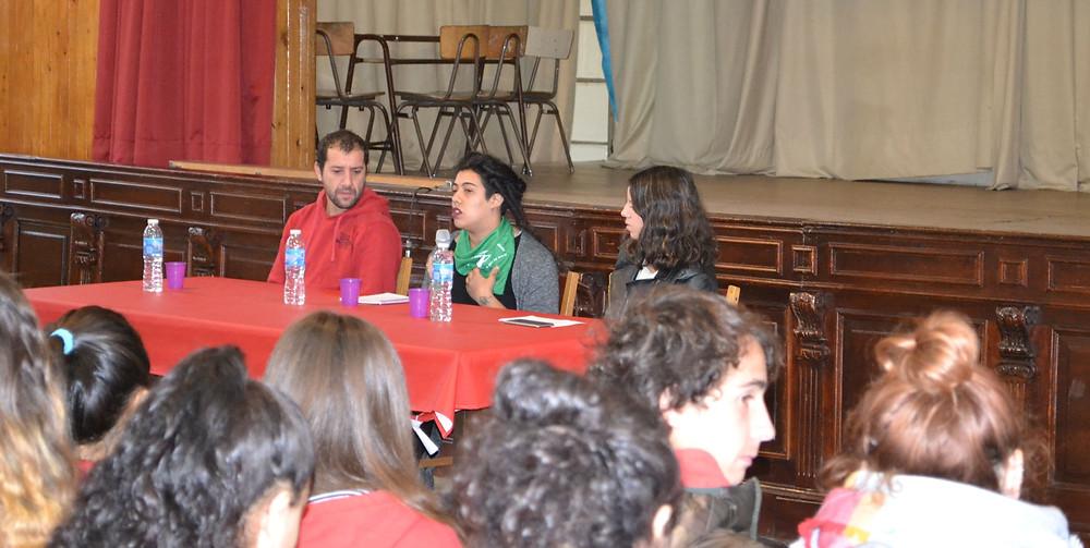 Paloma Carlos, militante de Feministas Libertarias de Olavarría y el FOS