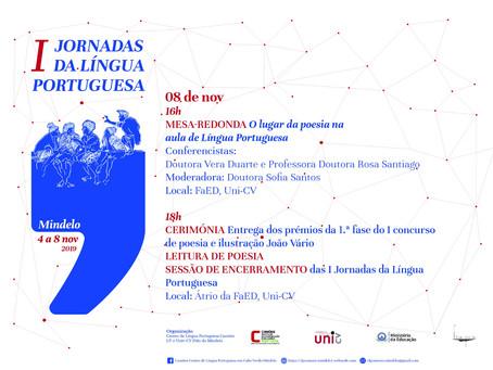 I JORNADAS DA LÍNGUA PORTUGUESA - O lugar da poesia na sala de aula