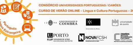 CURSO DE VERÃO DE LÍNGUA E CULTURA PORTUGUESAS ONLINE