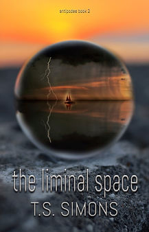 The Liminal Space cover, dome containing yacht in a storm
