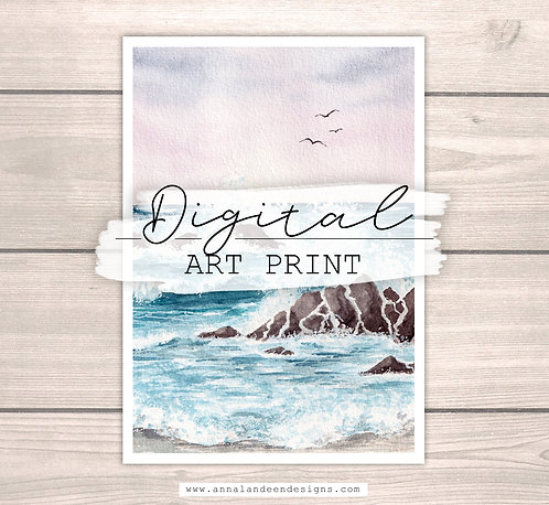 Ocean Waves | Digital Art Print