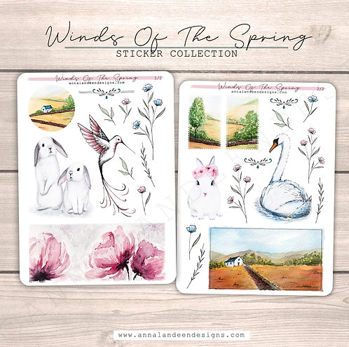 Winds Of The Spring Sticker Collection