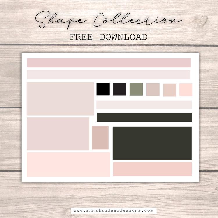 Blush Tone Shape Collection