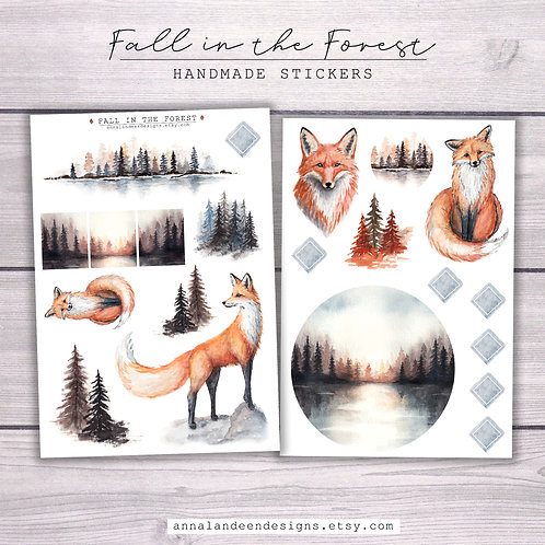 Fall In The Forest Sticker Pack