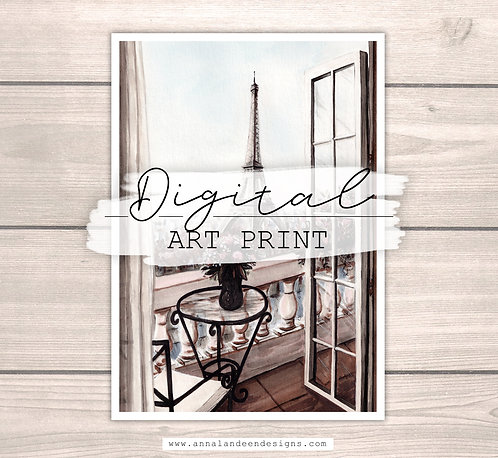 Take Me To Paris | Digital Art Print