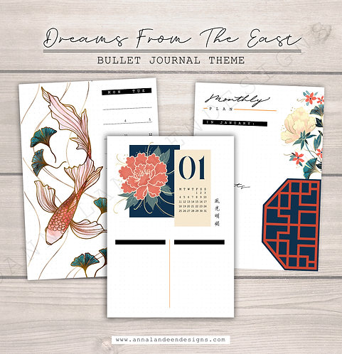 Dreams From The East | Digital Bullet Journal Theme