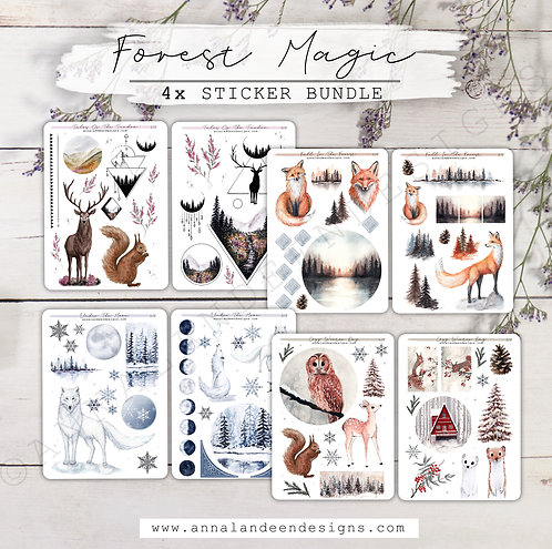 Forest Magic | 4-Sticker Bundle