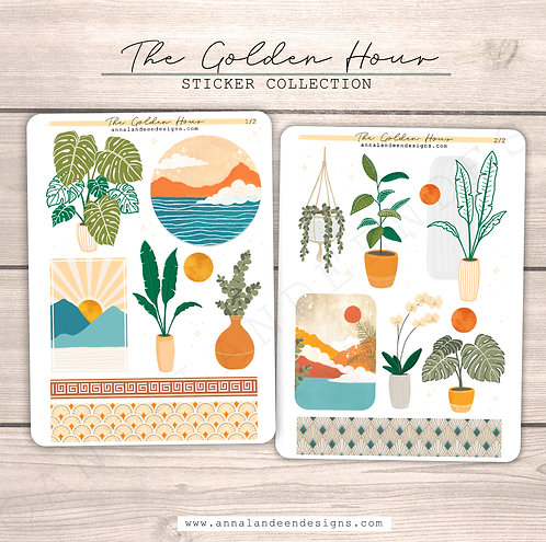 The Golden Hour Sticker Collection
