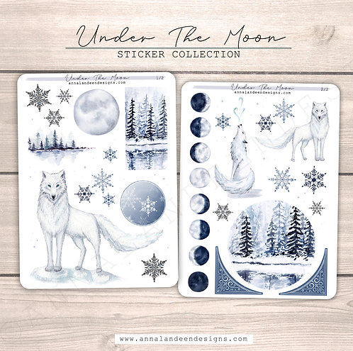 Under The Moon Sticker Collection