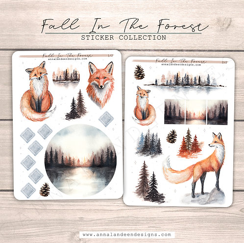 Fall In The Forest Sticker Collection
