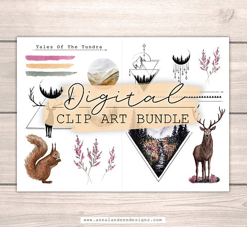 Tales Of The Tundra | Digital Clip Art Bundle