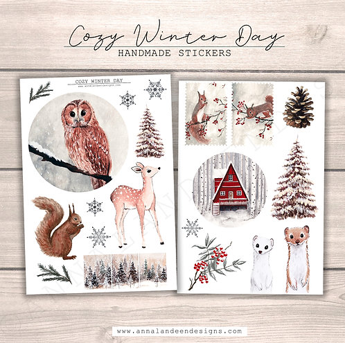 Cozy Winter Day Sticker Collection