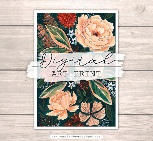 Fall Flowers | Digital Art Print