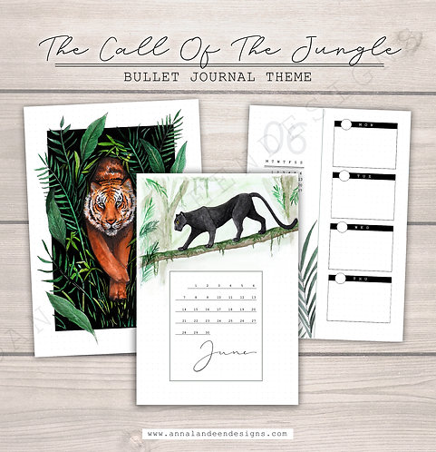 The Call Of The Jungle | Digital Bullet Journal Theme