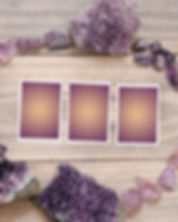 Tarot reading lay out, wood background a