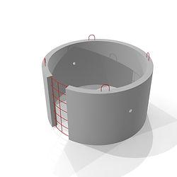 Железобетонное кольцо с замком КС 15 9 диаметром 1,5 мертра с петлями