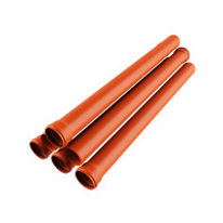 Трубы для канализации рыжая оранжевая 110 мм с доставкой по Новосибирску