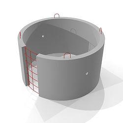 ЖБИ изделие стеновое кольцо для выгрбной ямы и септика КС 20 9 диаметром 2 метра