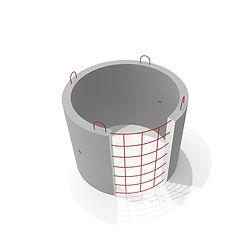 Кольцо бетонное КС 10 9 диаметром 1 метр армированное