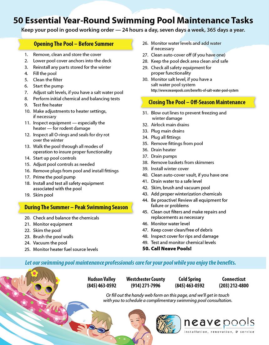 Pool Checklist