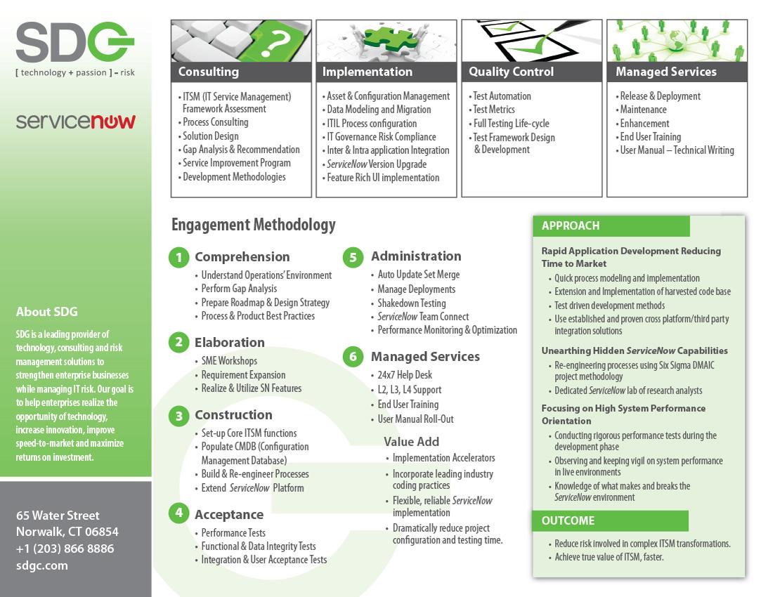 SDG Service Now OneSheet