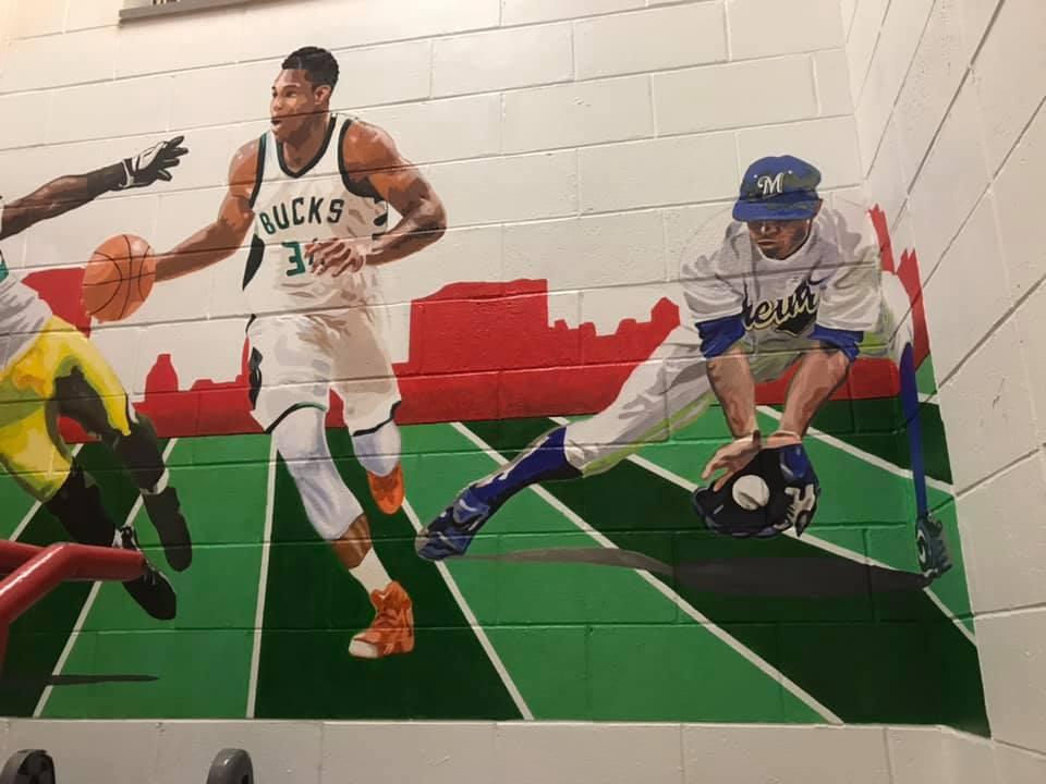 sports muralright
