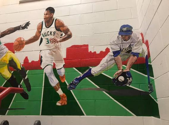 sports mural Coa