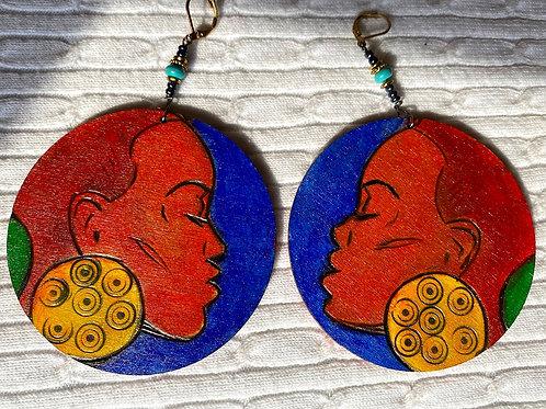 Soulful woman earrings