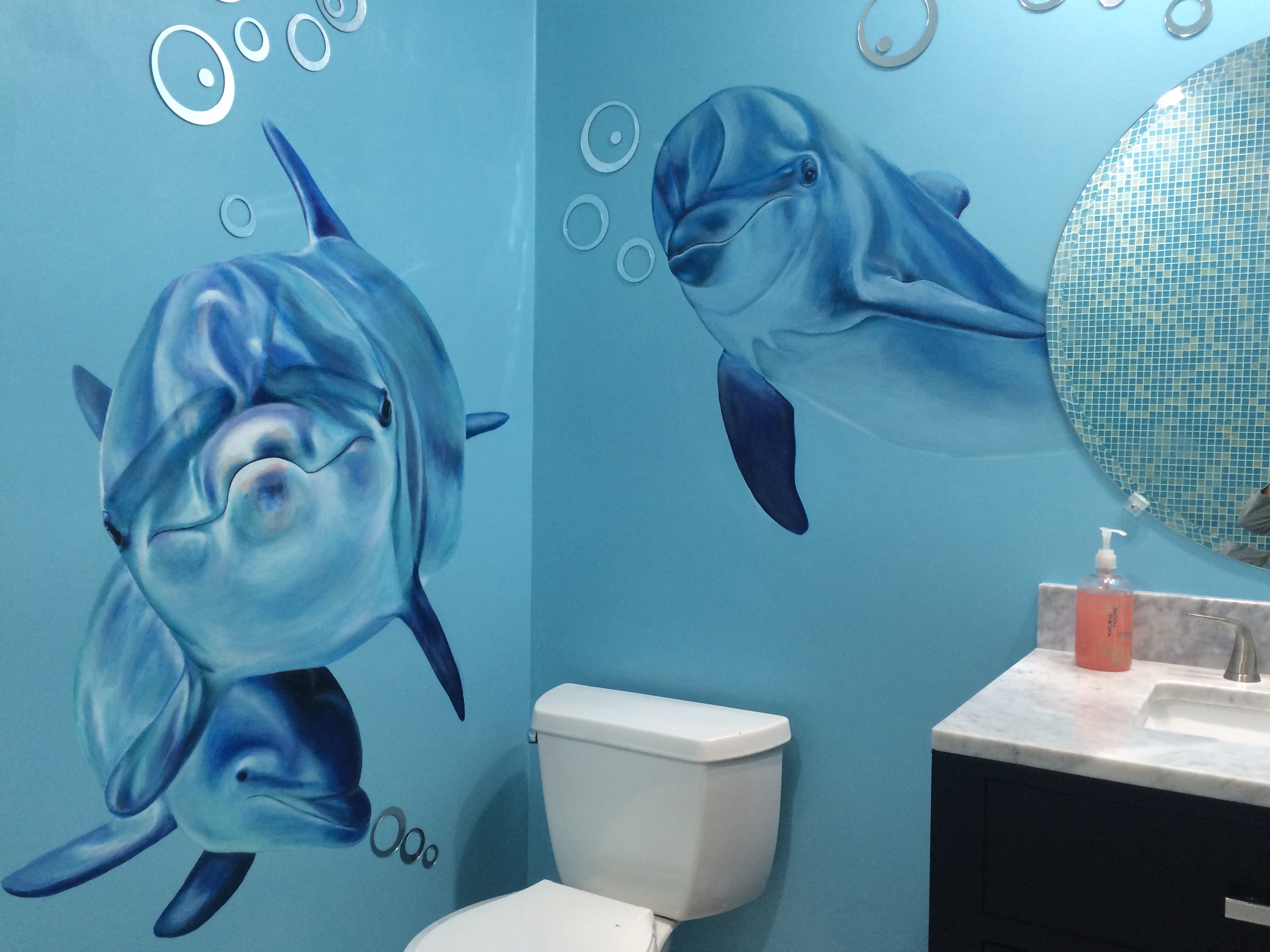 Dolphin mural