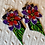Thumbnail: Floral leather earrings