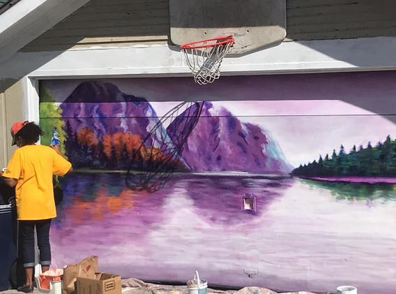 neighborhood garage murals