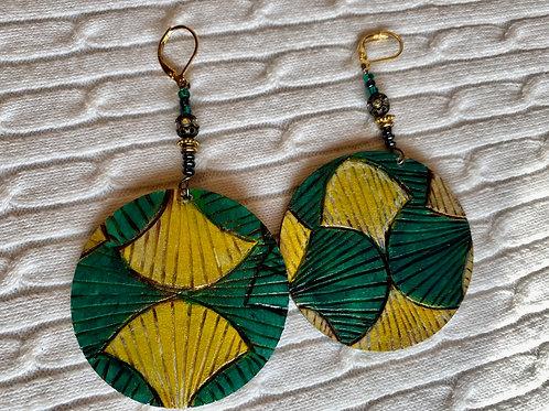 Green/Yellow earrings