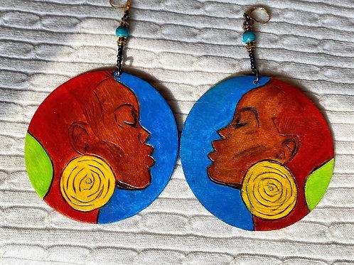 Woman Large Earrings