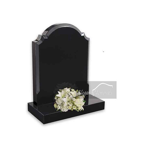 The Darwen Granite Headstone Black