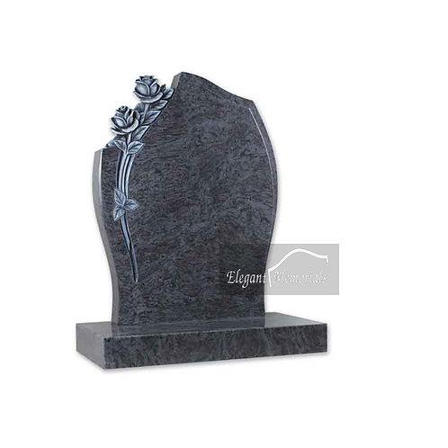 The Hawes Granite Headstone Bahama Blue