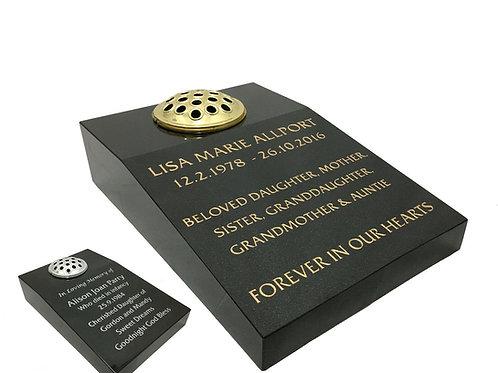 BlackPremium Polished Granite Flower Tablet