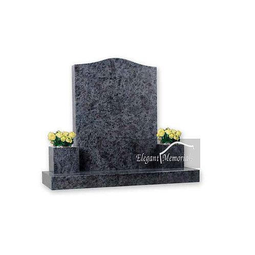 The Harwich Ogee Granite Headstone Bahama Blue