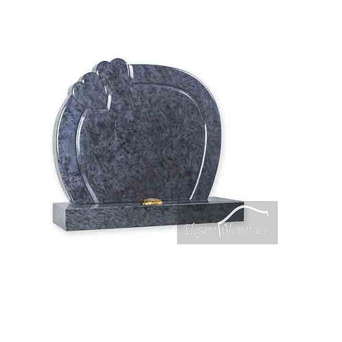 The Hartshill Heart Granite Headstone Bahama Blue