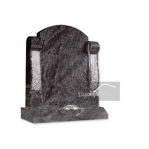 The Corbridge Granite Headstone Bahama Blue