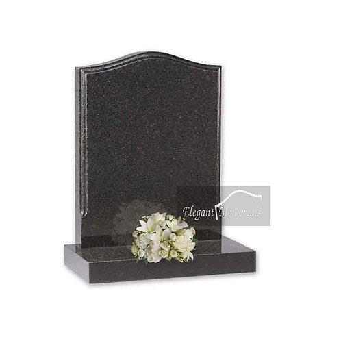 The Blyth Granite Headstone Deep Dark Grey