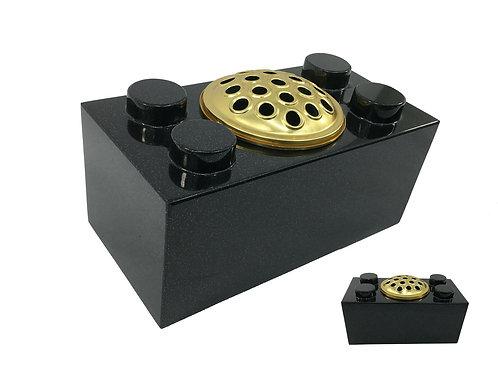 LEGO Black Premium Polished Granite Flower Vase