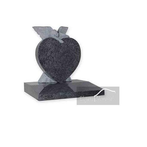The Ellerton Granite Headstone Bahama Blue