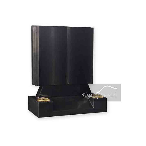 The Hayward Book Set Granite Headstone Black