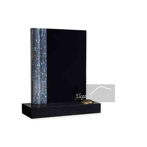 The Book of Life Granite Headstone Black & Blue Pearl