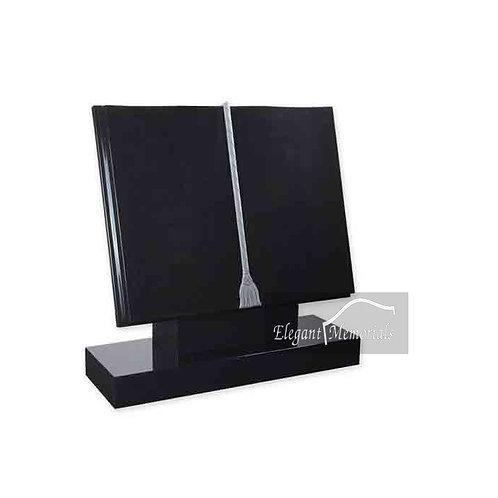The Grand Book Set Granite Headstone Black